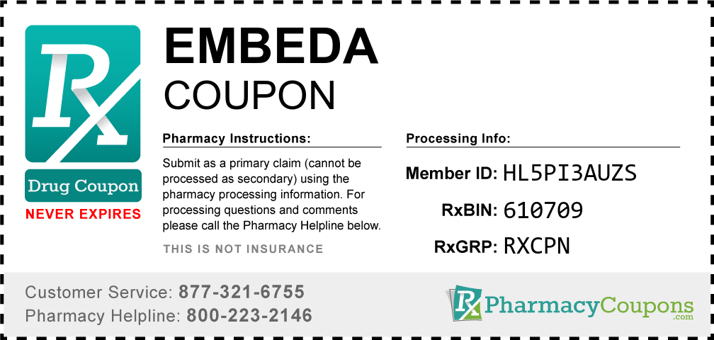Embeda Prescription Drug Coupon with Pharmacy Savings