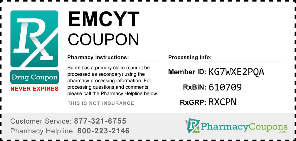 Emcyt Prescription Drug Coupon with Pharmacy Savings