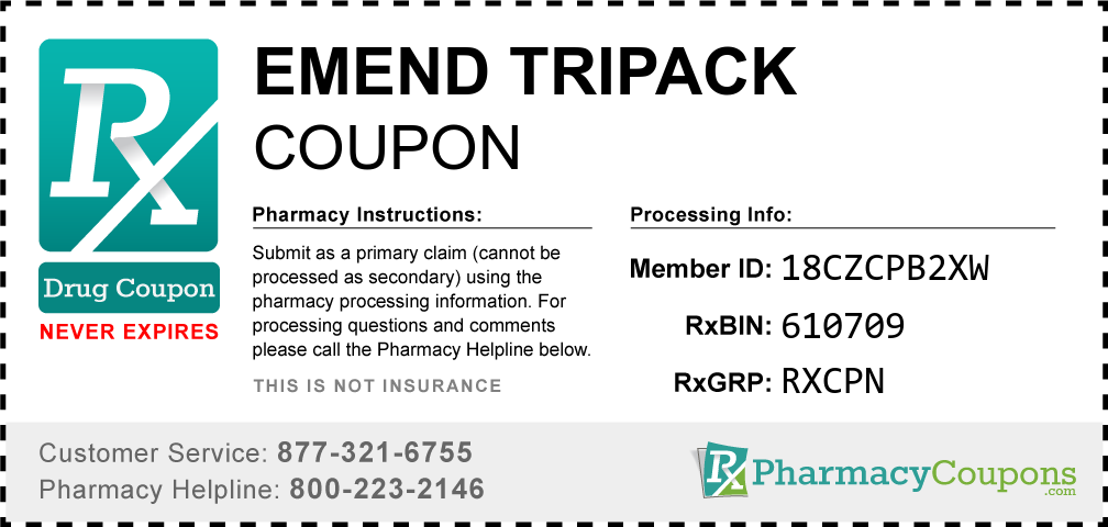 Emend tripack Prescription Drug Coupon with Pharmacy Savings