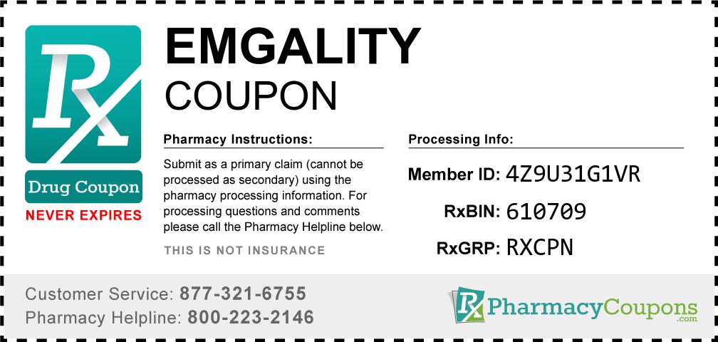 Emgality Prescription Drug Coupon with Pharmacy Savings