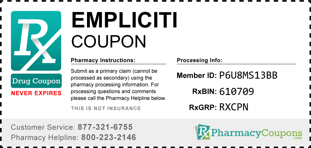 Empliciti Prescription Drug Coupon with Pharmacy Savings