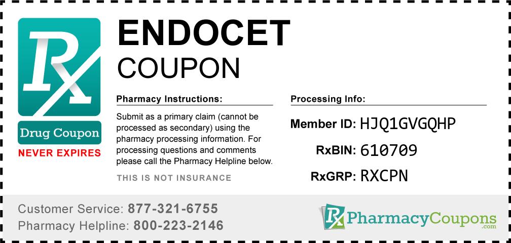 Endocet Prescription Drug Coupon with Pharmacy Savings