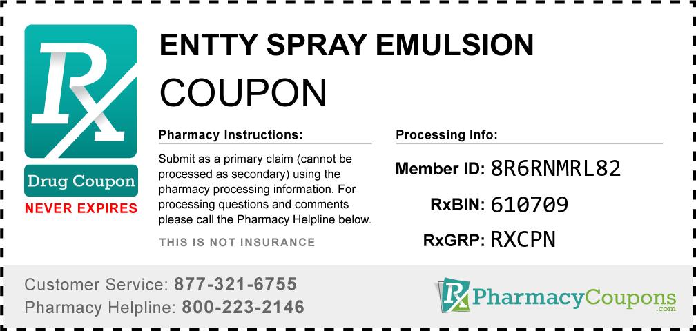 Entty spray emulsion Prescription Drug Coupon with Pharmacy Savings