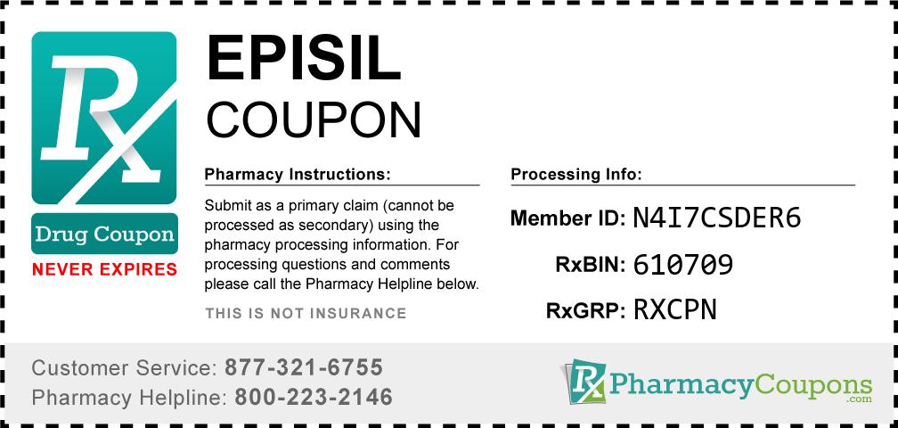 Episil Prescription Drug Coupon with Pharmacy Savings