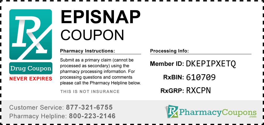 Episnap Prescription Drug Coupon with Pharmacy Savings