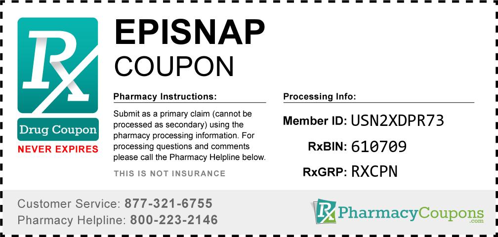 Episnap Prescription Drug Coupon with Pharmacy Savings