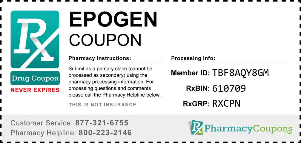 Epogen Prescription Drug Coupon with Pharmacy Savings