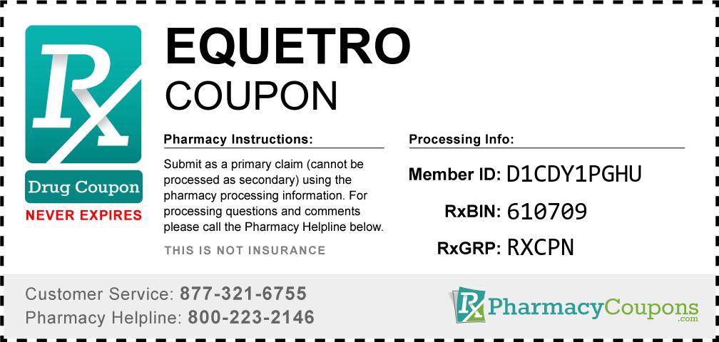 Equetro Prescription Drug Coupon with Pharmacy Savings