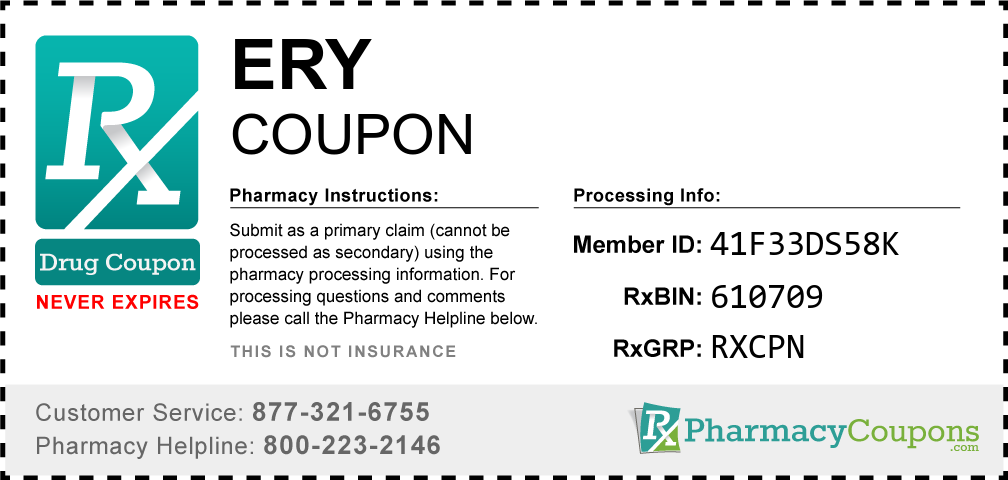 Ery Prescription Drug Coupon with Pharmacy Savings