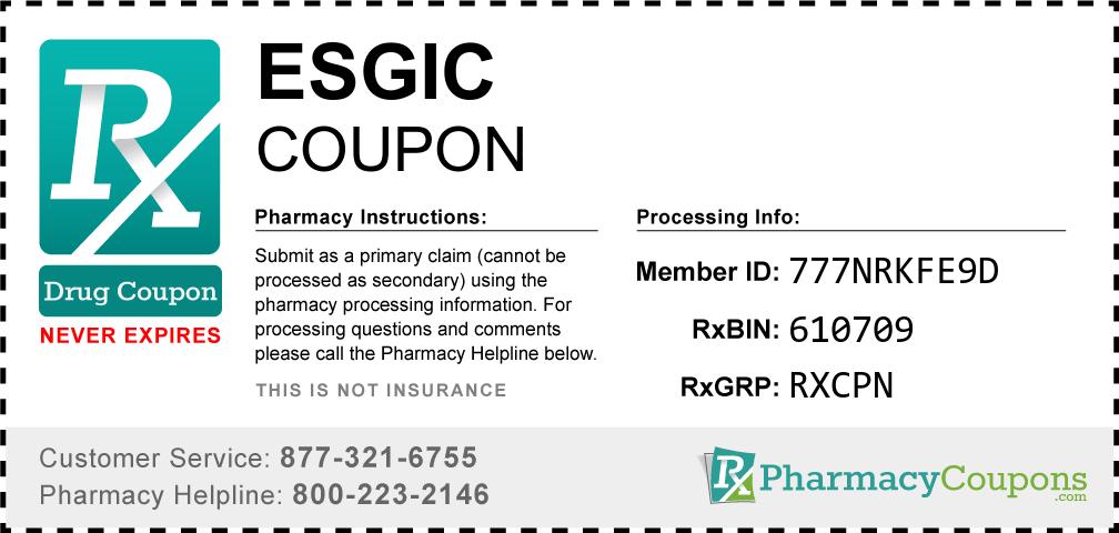 Esgic Prescription Drug Coupon with Pharmacy Savings