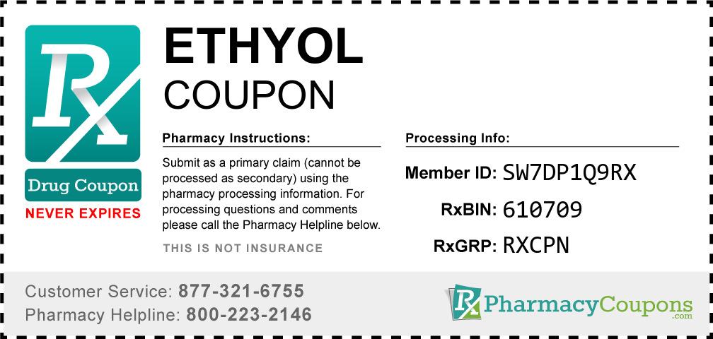 Ethyol Prescription Drug Coupon with Pharmacy Savings