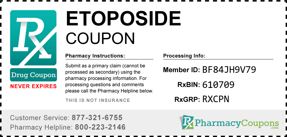 Etoposide Prescription Drug Coupon with Pharmacy Savings