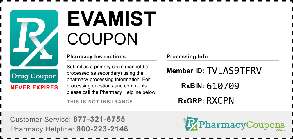 Evamist Prescription Drug Coupon with Pharmacy Savings