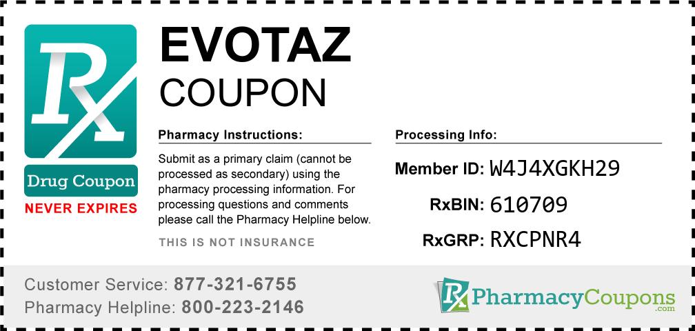 Evotaz Prescription Drug Coupon with Pharmacy Savings