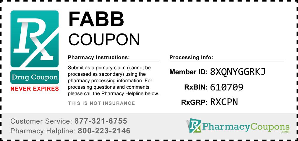 Fabb Prescription Drug Coupon with Pharmacy Savings