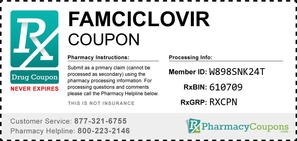Famciclovir Prescription Drug Coupon with Pharmacy Savings