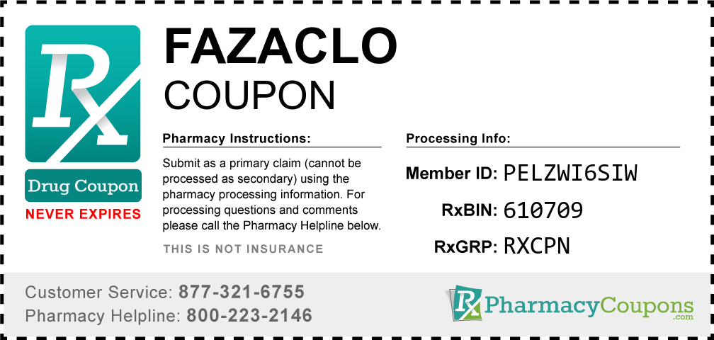Fazaclo Prescription Drug Coupon with Pharmacy Savings