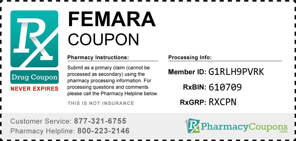 Femara Prescription Drug Coupon with Pharmacy Savings