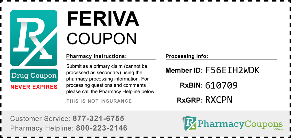 Feriva Prescription Drug Coupon with Pharmacy Savings