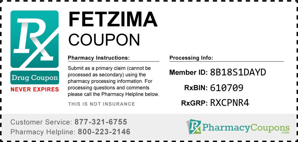 Fetzima Prescription Drug Coupon with Pharmacy Savings