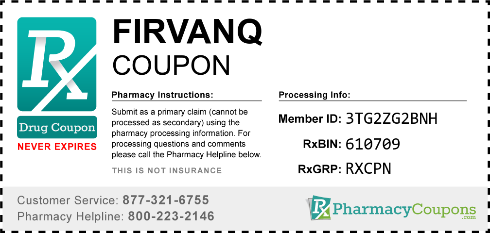 Firvanq Prescription Drug Coupon with Pharmacy Savings