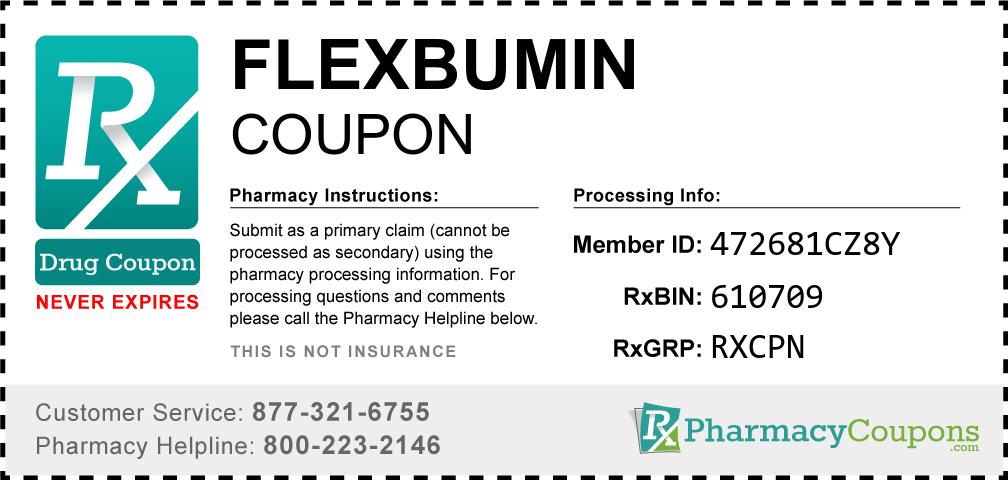 Flexbumin Prescription Drug Coupon with Pharmacy Savings
