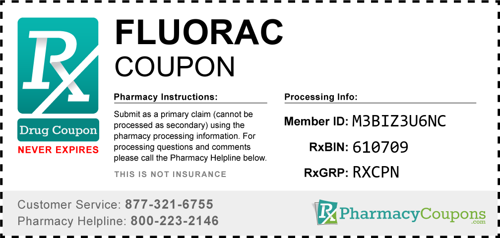 Fluorac Prescription Drug Coupon with Pharmacy Savings