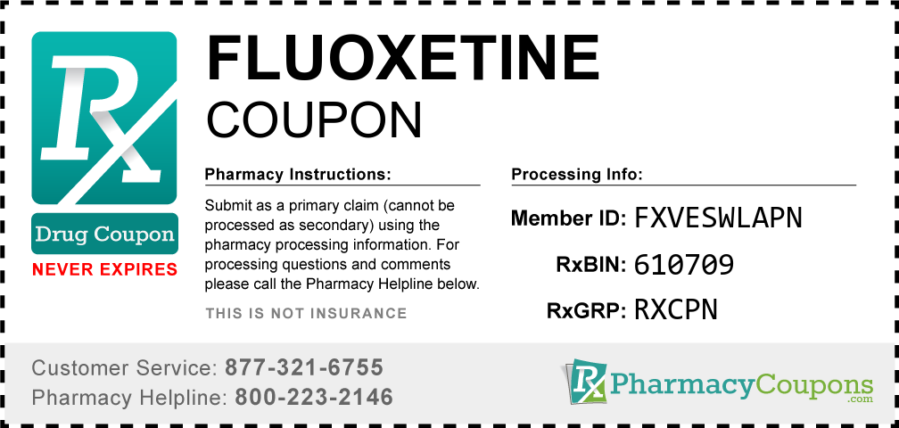 Fluoxetine Prescription Drug Coupon with Pharmacy Savings
