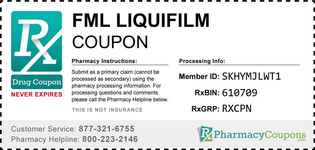 Fml liquifilm Prescription Drug Coupon with Pharmacy Savings