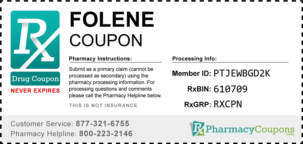 Folene Prescription Drug Coupon with Pharmacy Savings