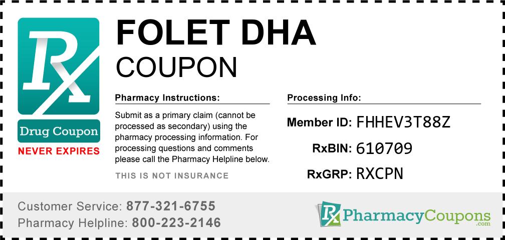 Folet dha Prescription Drug Coupon with Pharmacy Savings