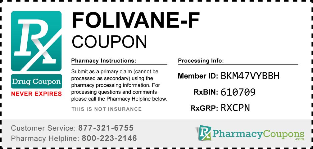 Folivane-f Prescription Drug Coupon with Pharmacy Savings