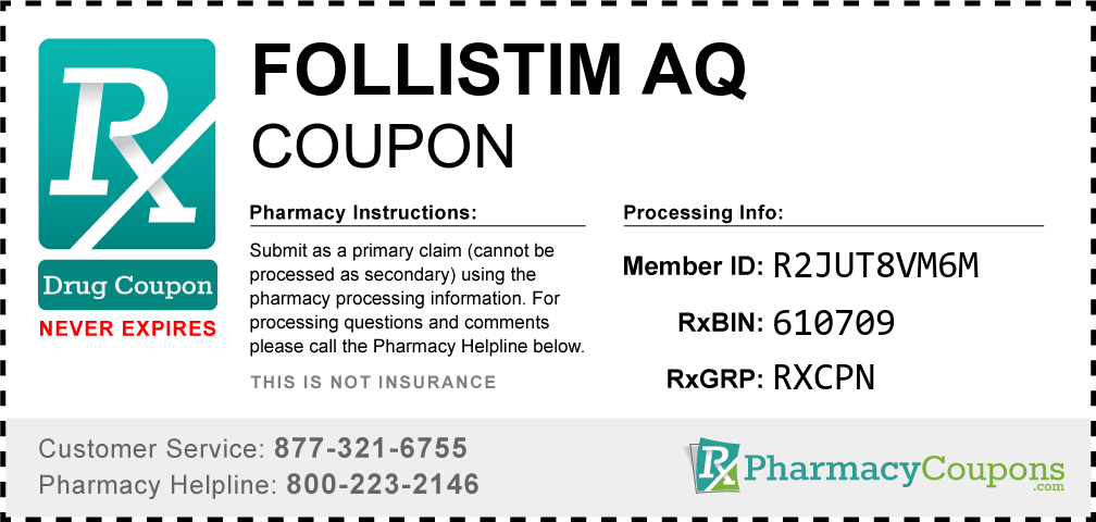 Follistim aq Prescription Drug Coupon with Pharmacy Savings