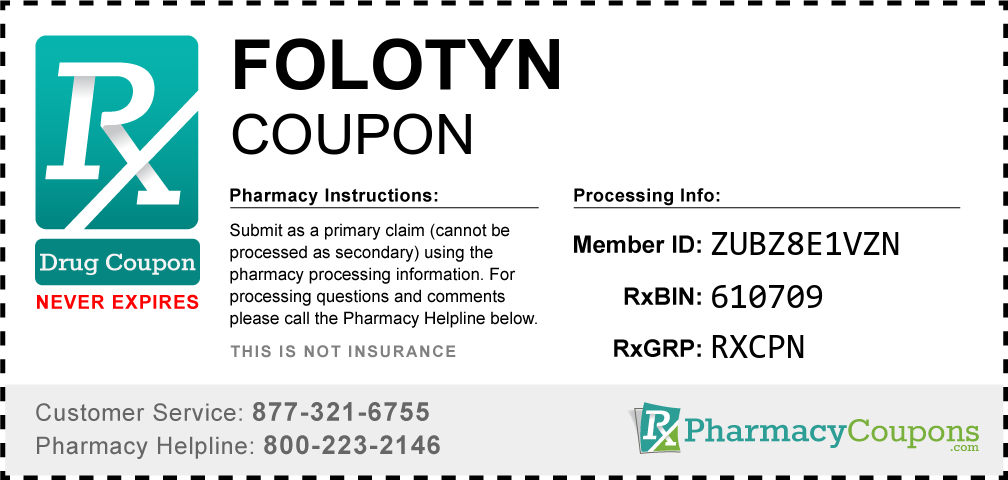 Folotyn Prescription Drug Coupon with Pharmacy Savings