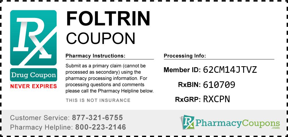 Foltrin Prescription Drug Coupon with Pharmacy Savings