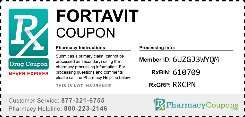 Fortavit Prescription Drug Coupon with Pharmacy Savings