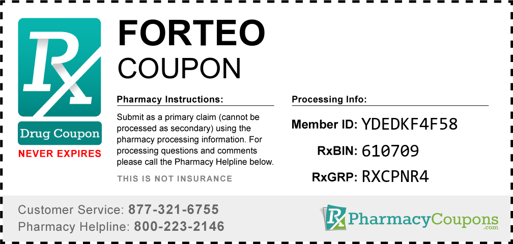 Forteo Prescription Drug Coupon with Pharmacy Savings