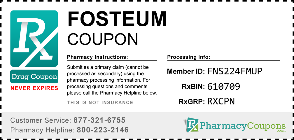Fosteum Prescription Drug Coupon with Pharmacy Savings