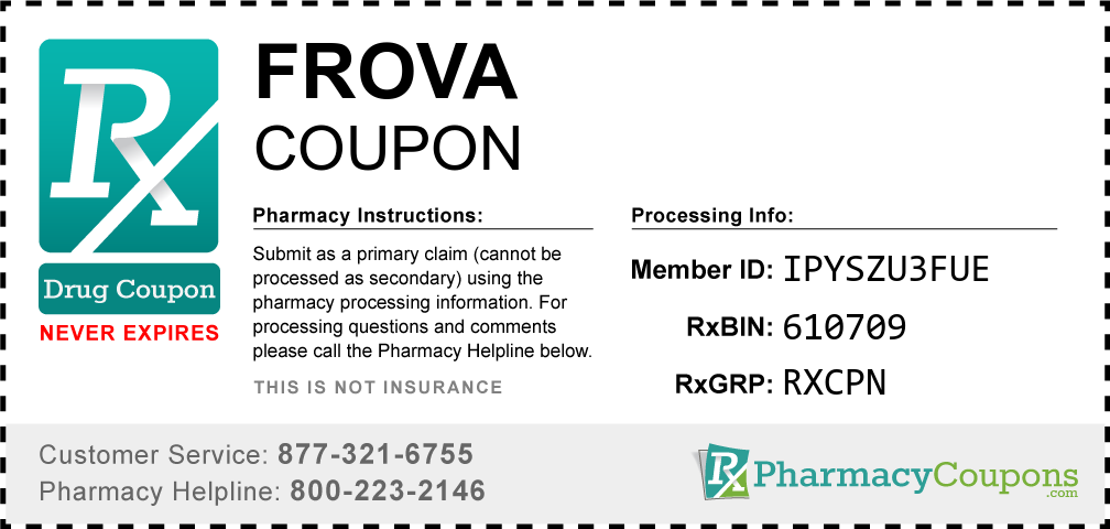 Frova Prescription Drug Coupon with Pharmacy Savings