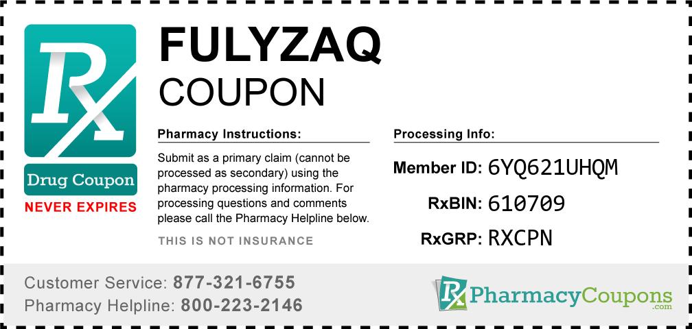 Fulyzaq Prescription Drug Coupon with Pharmacy Savings