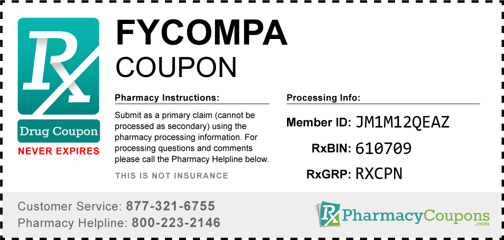 Fycompa Prescription Drug Coupon with Pharmacy Savings