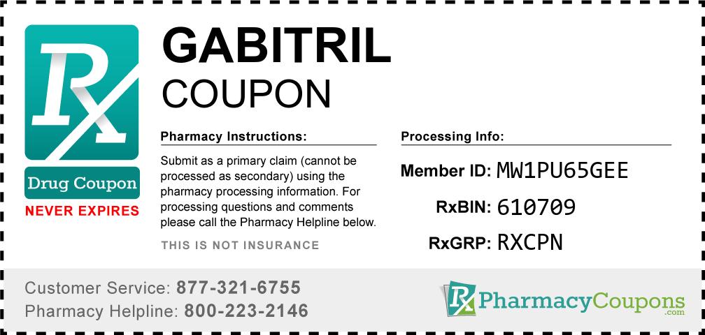 Gabitril Prescription Drug Coupon with Pharmacy Savings