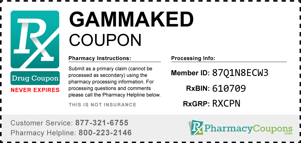 Gammaked Prescription Drug Coupon with Pharmacy Savings