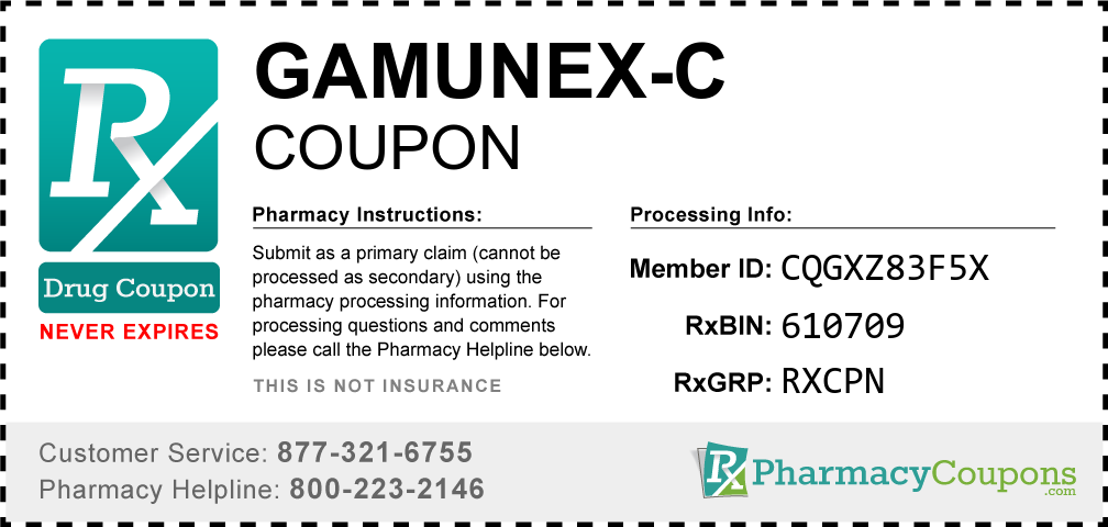 Gamunex-c Prescription Drug Coupon with Pharmacy Savings