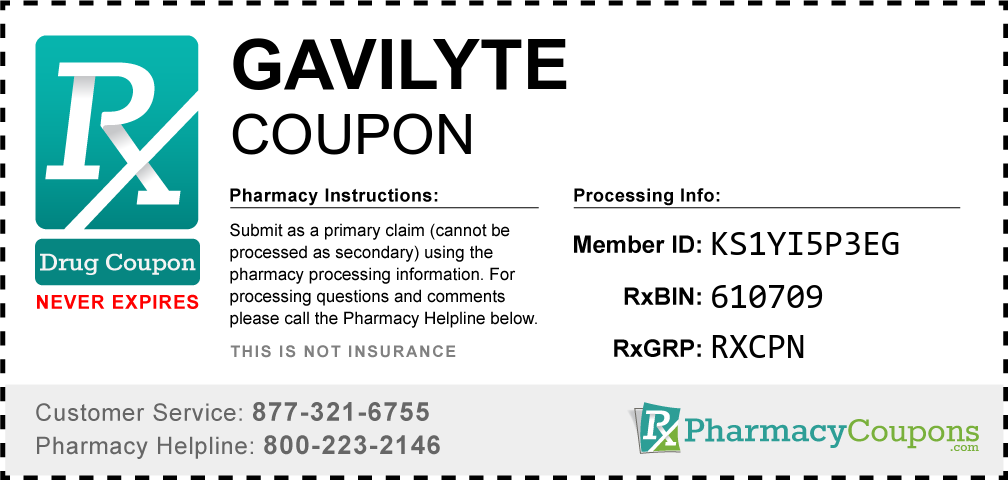 Gavilyte Prescription Drug Coupon with Pharmacy Savings