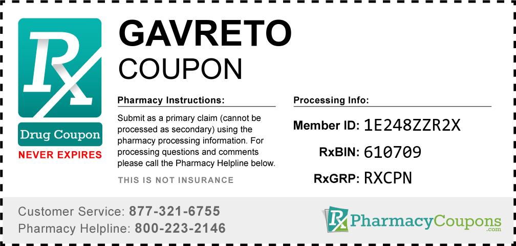 Gavreto Prescription Drug Coupon with Pharmacy Savings
