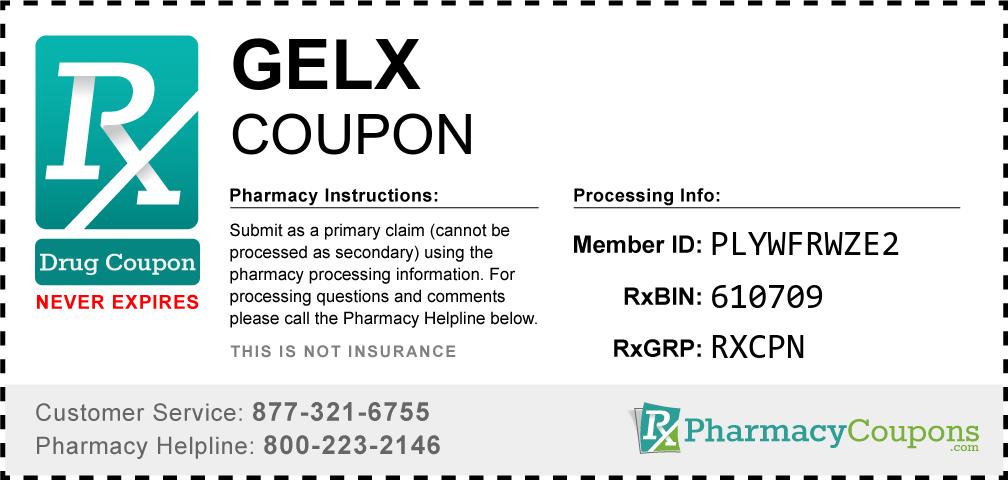 Gelx Prescription Drug Coupon with Pharmacy Savings