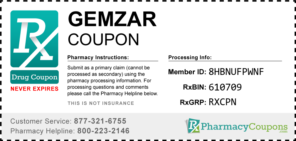 Gemzar Prescription Drug Coupon with Pharmacy Savings