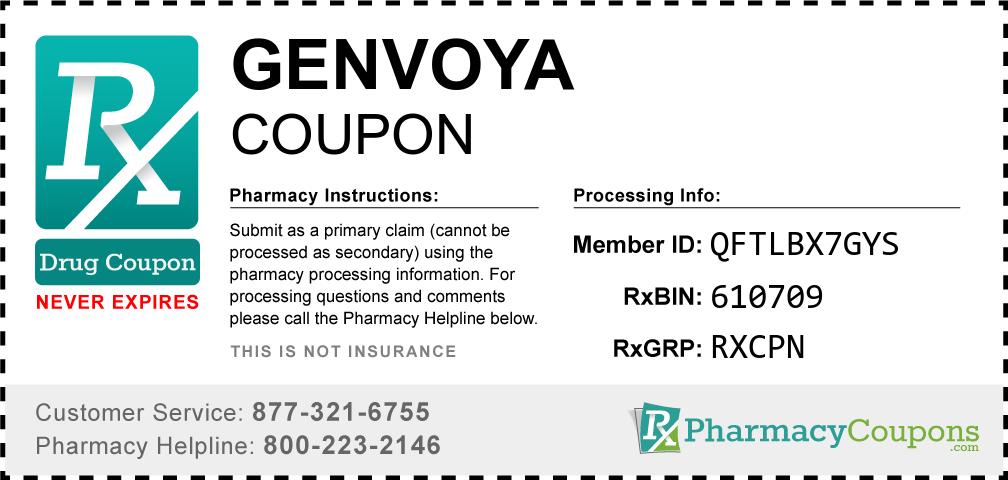 Genvoya Prescription Drug Coupon with Pharmacy Savings