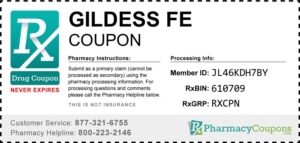 Gildess fe Prescription Drug Coupon with Pharmacy Savings